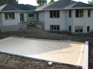 Exterior under construction