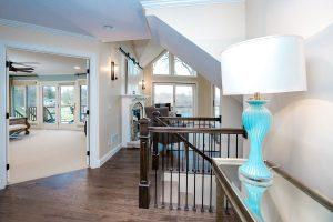Foyer view, door to bedroom and hallway to family room
