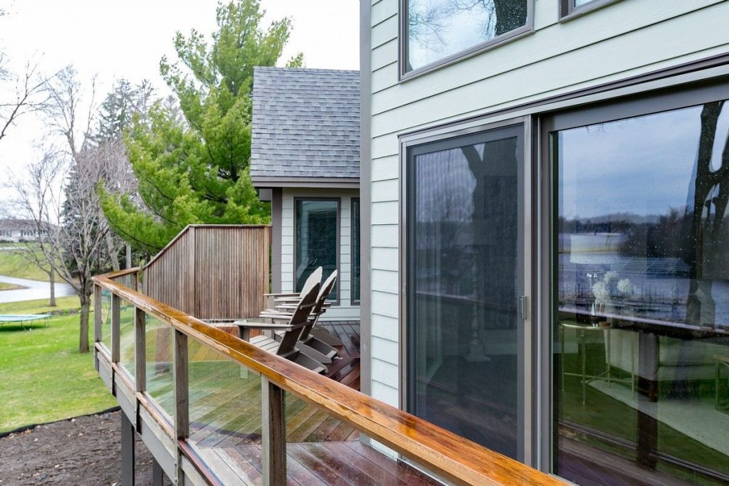 view of deck with sliding doors
