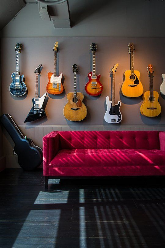 music room man cave