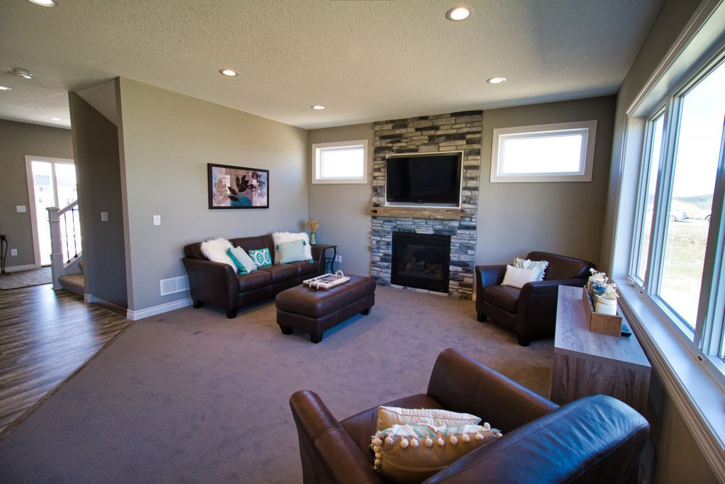 luxury living room in a luxury custom home built by custom home comany xpand inc