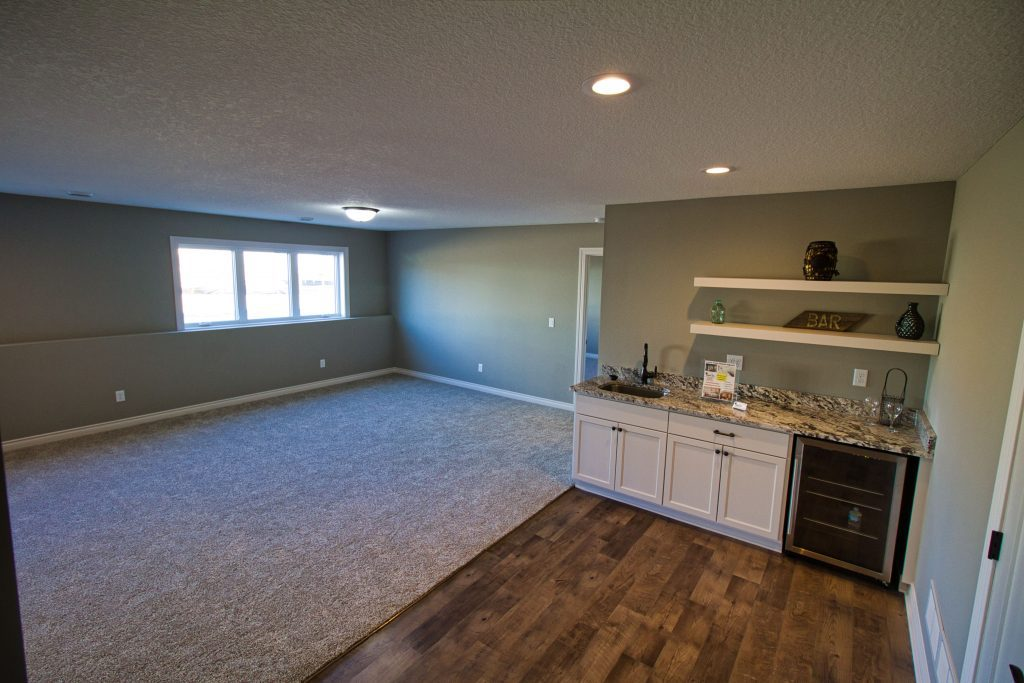luxury basement in a luxury custom home built by custom home company xpand inc