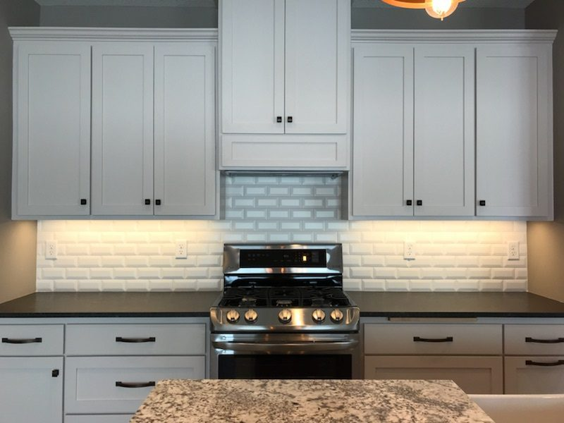 Kitchen with Stove and counters