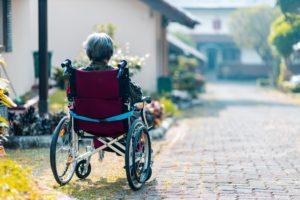 older women in a wheelchair