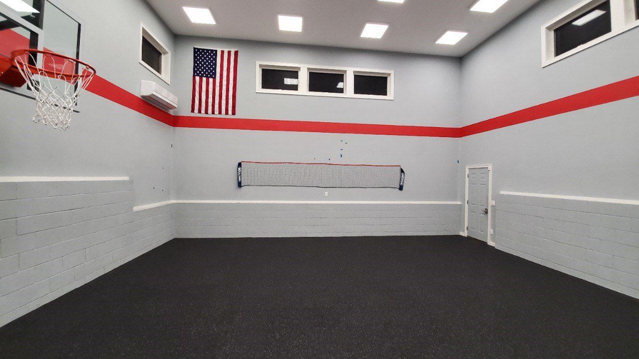 interior of sport court