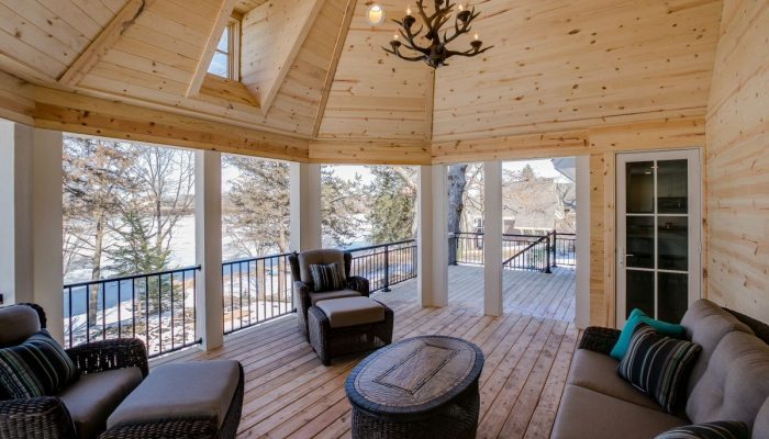 covered Deck View