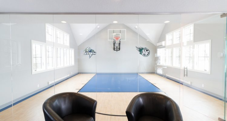 In home half basketball court