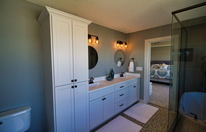 Bathroom featuring dual sinks